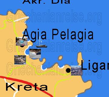 Griechenland Karte Kreta.Agia Pelagia Reiseberichte Urlaub Insel Kreta