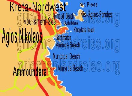 Kreta Karte Mit Sehenswürdigkeiten.Agios Nikolaos Kreta Reiseberichte Bilder Informationen