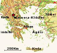 Meteora Klöster Karte.Meteora Klöster Besichtigung Griechenland Urlaubsreisen Auf