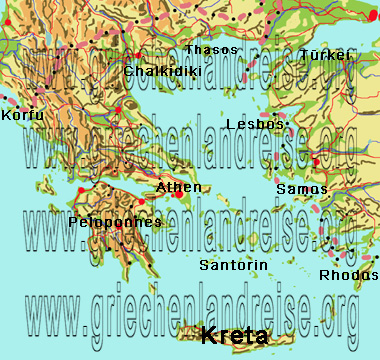 Karte Griechenland.Landkarte Griechenland Bilder Sehenswürdigkeiten Interaktiv