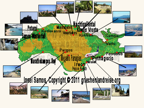 Kreta Karte Mit Sehenswürdigkeiten.Samos Karte Eigene Interaktive Landkarte Griechenland